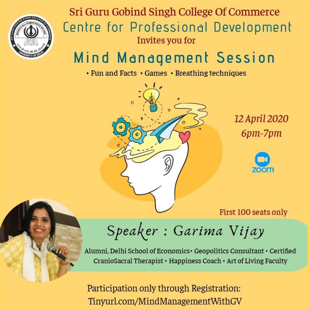 Webinar on Mind Management